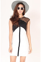 FLAUNT Stay Classic Mesh Dress - Off White