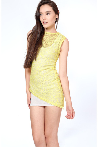 yellow Flauntcc dress