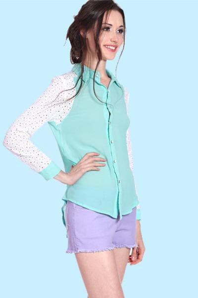 crochet sleeve Flauntcc blouse