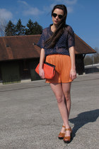 asos bag - vintage sunglasses - asos blouse - H&M sandals - asos skirt
