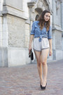 Clutch-h-m-bag-periwinkle-ntice-shorts-blue-h-m-blouse