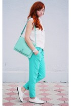aquamarine missnabi bag - white missnabi boots - white Wholesale-Dress shirt