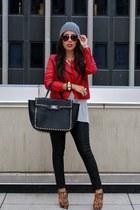 Forever 21 bag - Miu Miu boots - Forever 21 hat - Zara jacket