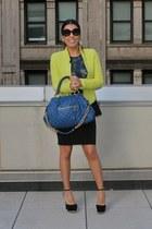 Zara top - Shoe Dazzle shoes - Zara blazer - Marc Jacobs bag - Zara skirt