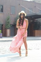 H&M hat - Forever21 dress - Shiek wedges