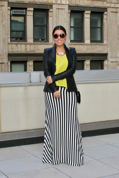 Long Black And White Skirt