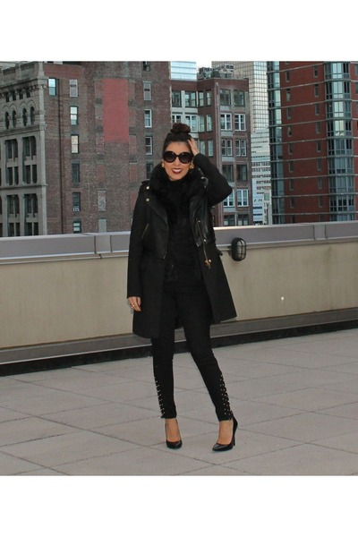Zara coat - Nordstrom sweater - Prada sunglasses - Bakers heels - Zara pants