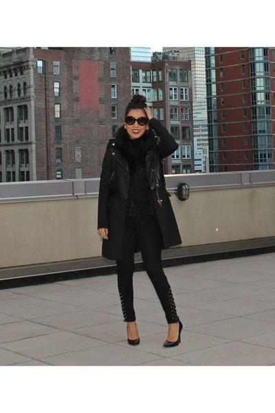 Zara coat - Nordstrom sweater - Prada sunglasses - Bakers heels - Zara pants
