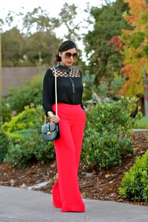Forever 21 bag - rachel roy pants - Queens shoes &amp; more blouse
