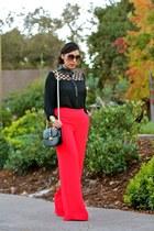 Forever 21 bag - rachel roy pants - Queens shoes & more blouse