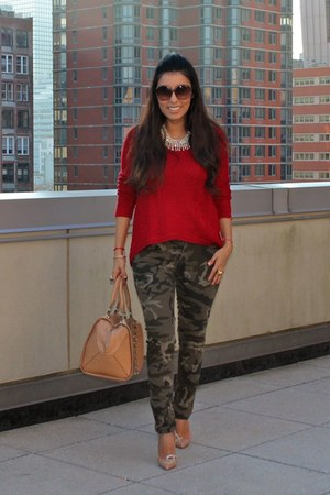 Zara sweater - Zara bag - Zara pants - Christian Louboutin heels