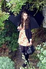 Hunter-boots-forever-21-dress-bershka-blazer-falke-tights-vintage-purse