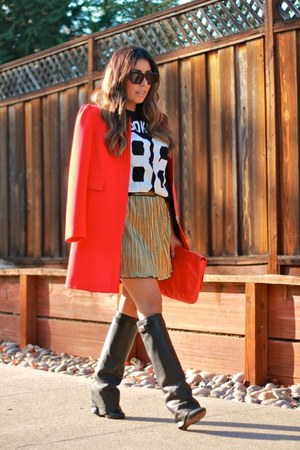 Zara coat - Givenchy boots