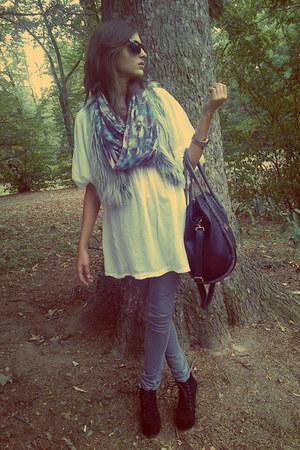 Claires bag - Jeffrey Campbell boots - Paulies dress - c&a scarf