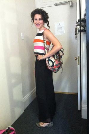 H&M shirt - Urban Outfitters bag - cheetah print Forever 21 flats