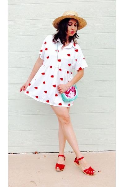 watermelon Choies dress - modcloth shoes - ali express purse