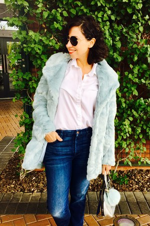 dolls kill coat - jeans - cloth  stone shirt