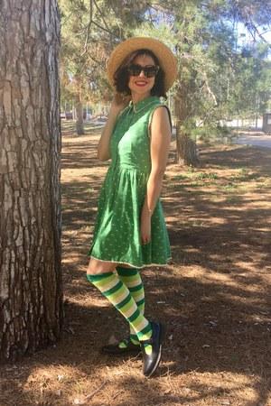 modcloth dress - mary janes doc martens shoes - sock dreams Sockde socks