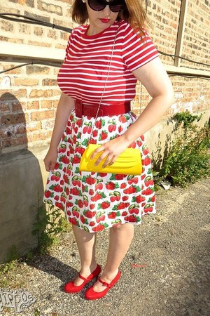 modcloth skirt - modcloth purse - Forever 21 sunglasses