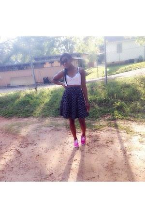 navy Forever 21 skirt