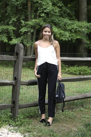 Zara flats - Gucci bag - brandy melville top - Zara pants