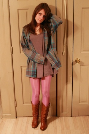 Bakers boots - American Apparel leggings - thrifted shirt - thrifted sweater