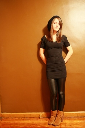 American Apparel dress - American Apparel leggings - Bakers boots