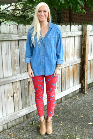 abercrombie and fitch jeans - Old Navy boots - vintage shirt