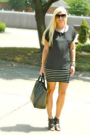 Forever 21 shirt - Zara bag - Target heels - Forever 21 skirt