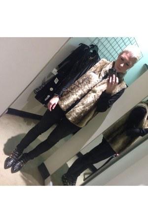 Zara boots - asos jeans - TJ Maxx vest - Forever 21 blouse