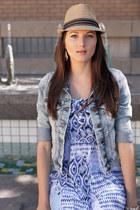 Miss Me jacket - Lani dress - Joia hat - Soda wedges