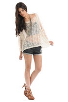 white Forever 21 top - black Forever 21 shorts - silver Forever 21 necklace - br