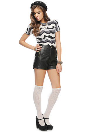black Forever 21 shoes - white Forever 21 socks - black Forever 21 shorts - gray