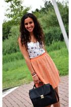 vintage bag - flower print Zara bodysuit
