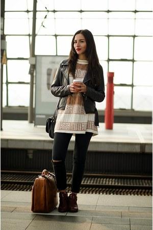 diy Zara jeans - vintage bag