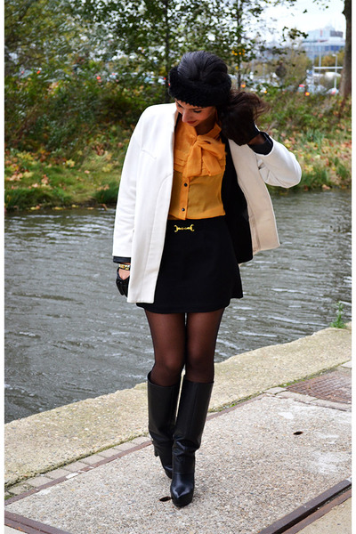 Zara boots - Zara coat - Primark skirt