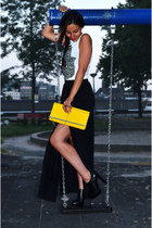 split skirt Mango skirt - print Urban Outfitters top