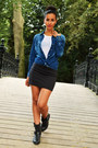 Denim-zara-blouse-stravidarius-skirt