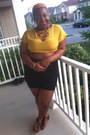 Mustard-crop-top-nasty-gal-top-black-pencil-skirt-nasty-gal-skirt
