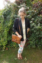 Topshop jeans - Fox Vintage blazer - Fox Vintage bag - Fox Vintage blouse