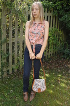 Fox Vintage bag - My Own jeans - new look blouse