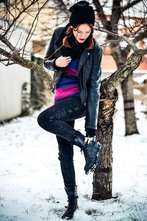black second hand hat - black second hand jacket