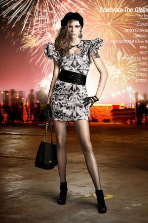 black Noir&Blanc dress - black H&M shoes - black Imoni gloves - black Urban Outf