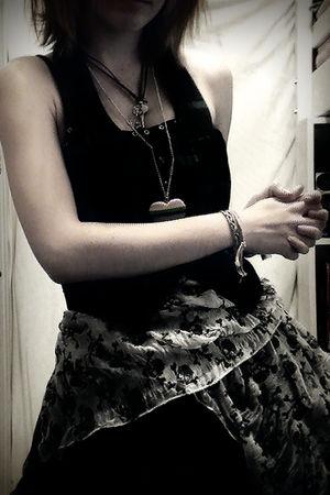 scarf - dress - vest