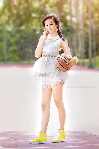 white mini dress dress - ivory lace up shorts - yellow sneakers