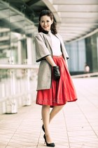 skirt - coat - shirt