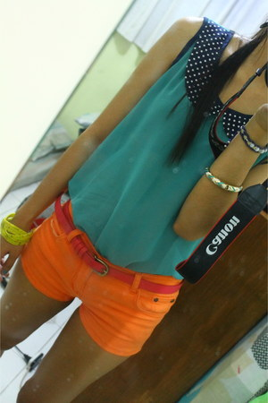 espadrilles shoes - SM Dept Store shorts - landmark belt - flea market top