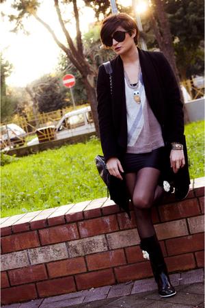 Grifoni coat - American Apparel dress - ferragamo sunglasses