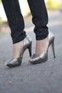 Heather-gray-tweed-target-blazer-black-wax-coated-currentelliott-jeans