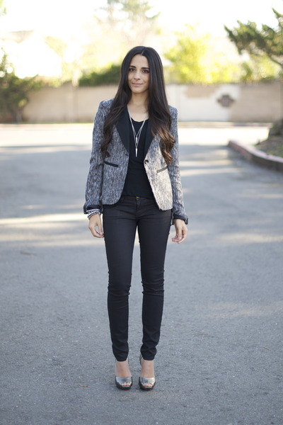 Black-wax-coated-currentelliott-jeans-heather-gray-tweed-target-blazer